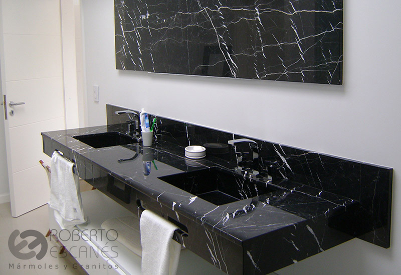 Obras realizadas roberto escan s for Marmol color negro brasil